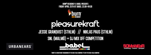 Burn Residency 2014 Mix off Night with Pleasurekraft